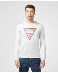 Guess Core Logo Crew Sweatshirt - White