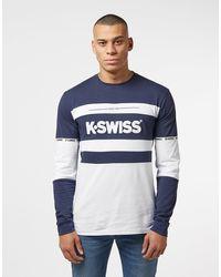 K-swiss Fairfield Long Sleeve T-shirt - Online Exclusive - Blue