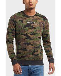 Guess - Camo Logo Sweatshirt - Lyst