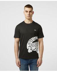 Lacoste Large Wrap Croc Short Sleeve T-shirt - Black