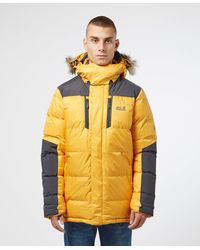 Jack Wolfskin The Cook Padded Parka Jacket - Yellow