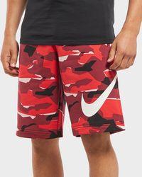 Nike - Club Camo Fleece Shorts - Lyst