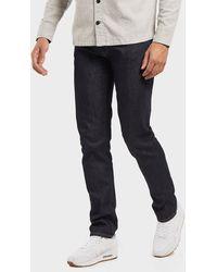 Lacoste Slim Stretch Denim Tapered Jeans - Blue