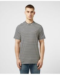 Deep Olive All Sizes Farah Reeth Stripe T-shirt Short Sleeve