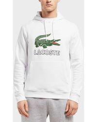 Lacoste - Large Logo Vintage Hoodie - Lyst