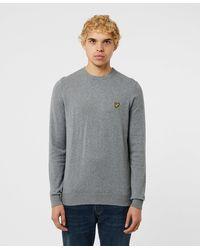 Lyle & Scott - Light Grey Marl Cotton Merino Sweater - Lyst