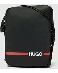 HUGO Record Stripe Cross Body Bag Black/black