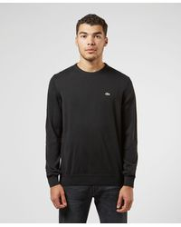 Lacoste Cotton Knit Sweater - Black