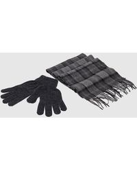 Barbour Scarf & Gloves Gift Set Grey - Gray