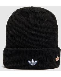 adidas Originals Ribbed Logo Beanie - Black