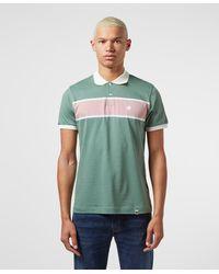 Pretty Green Lloyd Panel Short Sleeve Polo Shirt - Green