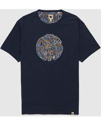 Pretty Green Wonderwall Paisley T-shirt - Blue