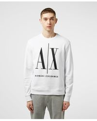 Armani Exchange Icon Sweatshirt White