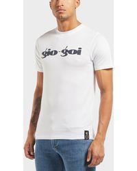 Gio Goi - Large Logo Short Sleeve T-shirt - Lyst