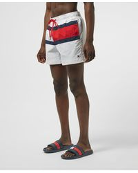 Tommy Hilfiger Flag Front Swim Shorts - White