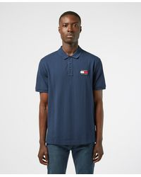 Tommy Hilfiger Badge Short Sleeve Polo Shirt - Blue