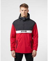 Schott Nyc Block Overhead Lightweight Jacket - Black