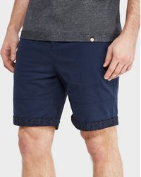 Pretty Green | Paisley Turn-up Chino Shorts - Exclusive | Lyst