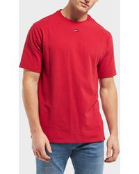81f7c39c Lyst - Tommy Hilfiger Big And Tall Red Short Sleeve T-shirt in Red ...