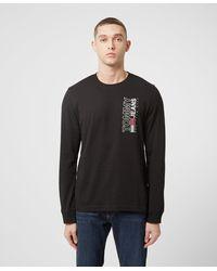 Tommy Hilfiger Stretch Logo Long Sleeve T-shirt - Black
