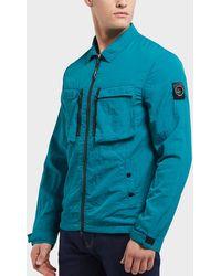 Marshall Artist - Garment Dyed Full Zip Overshirt - Lyst