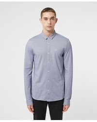 Armani Exchange - Pique Long Sleeve Shirt - Lyst