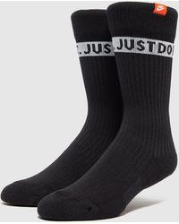 Nike Just Do It Logo Socks - Black