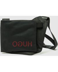 HUGO Record Sling Cross Body Bag Black/black