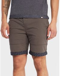 Pretty Green - Paisley Turn-up Chino Shorts - Exclusive - Lyst