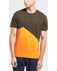 Barbour Panel Short Sleeve T-shirt - Multicolour