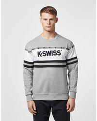 K-swiss Fresno Panel Sweatshirt In Grey