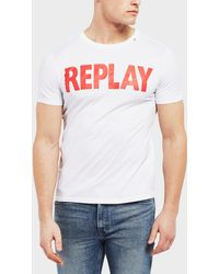 Replay - Logo Short Sleeve T-shirt - Lyst