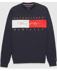 Tommy Hilfiger - Signature Flag Sweatshirt - Lyst