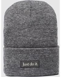 Nike Just Do It Logo Beanie - Grey