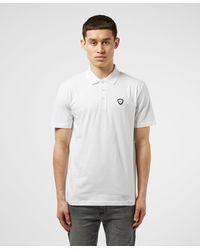 EA7 Core Shield Short Sleeve Polo Shirt - White