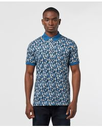 Pretty Green Barley Short Sleeve Polo Shirt - Blue