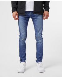 Calvin Klein Super Skinny Ripped Jeans - Blue