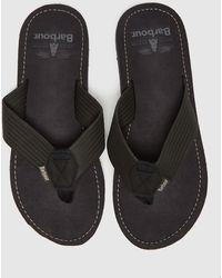 Barbour Toeman Sandals - Black
