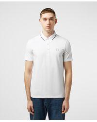 Armani Exchange Tipped Short Sleeve Polo Shirt White