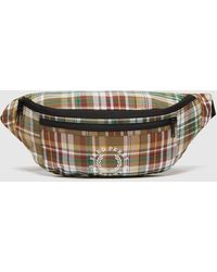 Fred Perry Check Bum Bag Green/green