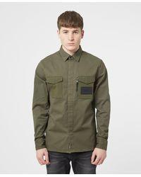 Calvin Klein Zip Pocket Utility Shirt - Green
