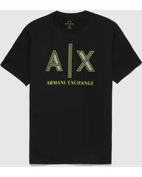 Armani Exchange Neon Logo T-shirt - Black
