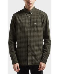 Lacoste - Gingham Long Sleeve Shirt - Online Exclusive - Lyst