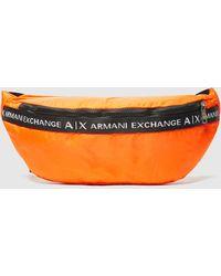 Armani Exchange Tape Logo Bum Bag - Orange