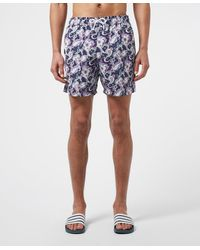 Pretty Green Beaufort Floral Paisley Swim Shorts - Blue