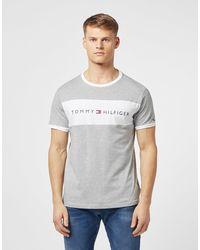 Tommy Hilfiger Logo Block Short Sleeve T-shirt - Grey