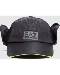 EA7 Train Earflap Cap - Black
