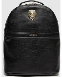 Guess Lion Backpack - Black