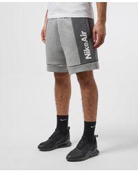 Nike Air Colour Block Fleece Shorts - Grey
