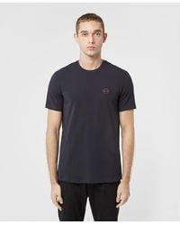 Armani Exchange Small Circle Short Sleeve T-shirt - Blue